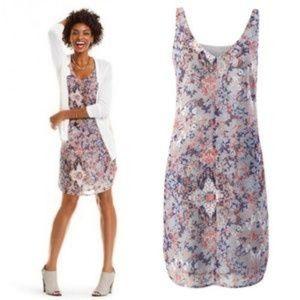 CABI Fresco Printed Slip Dress Style 5049 Size S